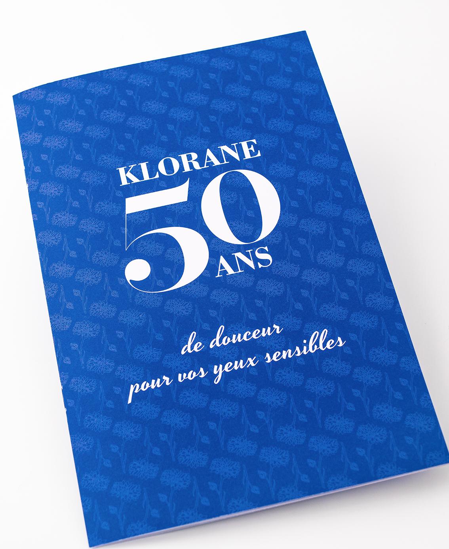 Dossier de Presse Klorane 50 ans : démaquillants au Bleuet