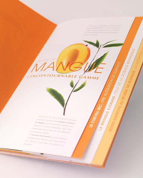 Dossier de presse lancement produit capillaire Mangue KLORANE