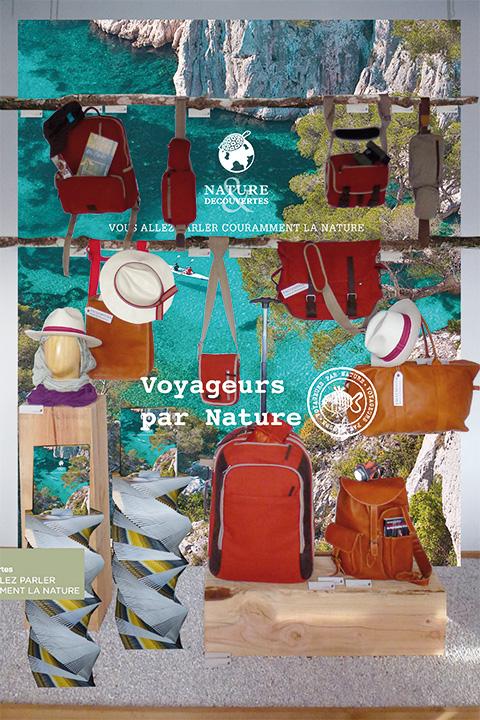 Vitrines des magasins Nature & Découvertes