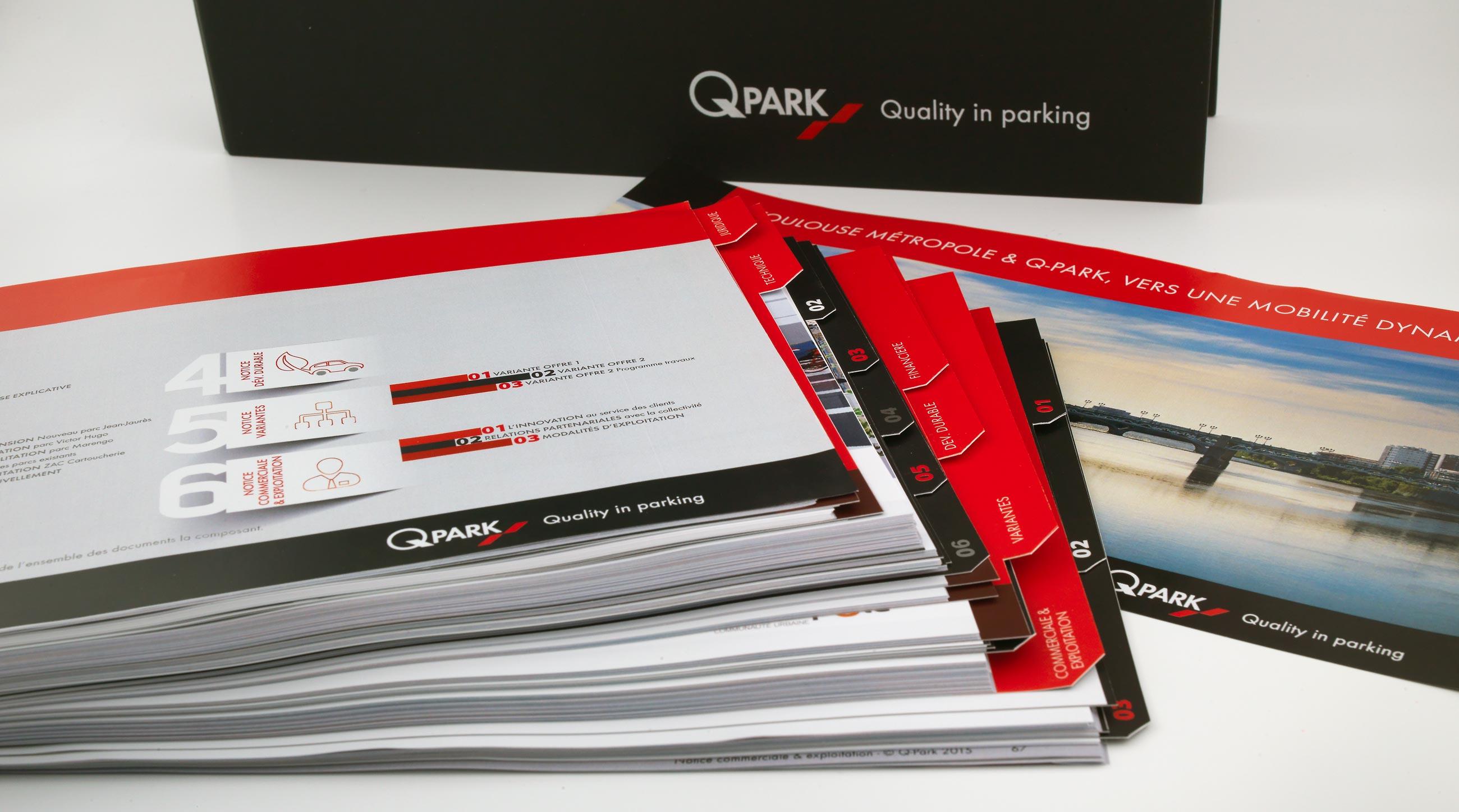 Q-Park classeur / intercalaires